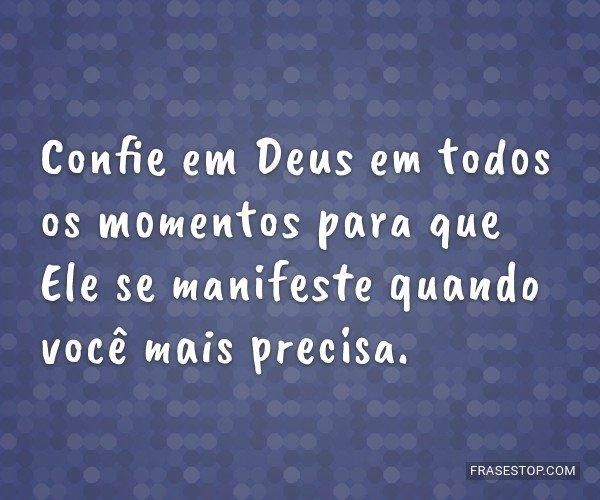 Confie em Deus em todos...