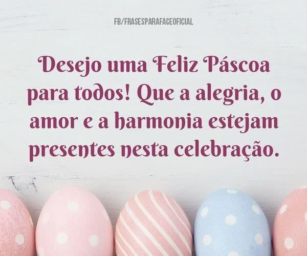 Desejo uma Feliz Páscoa...