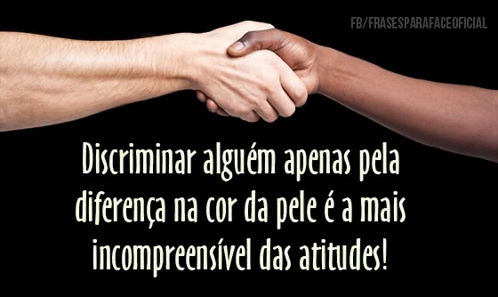 Discriminar alguém...