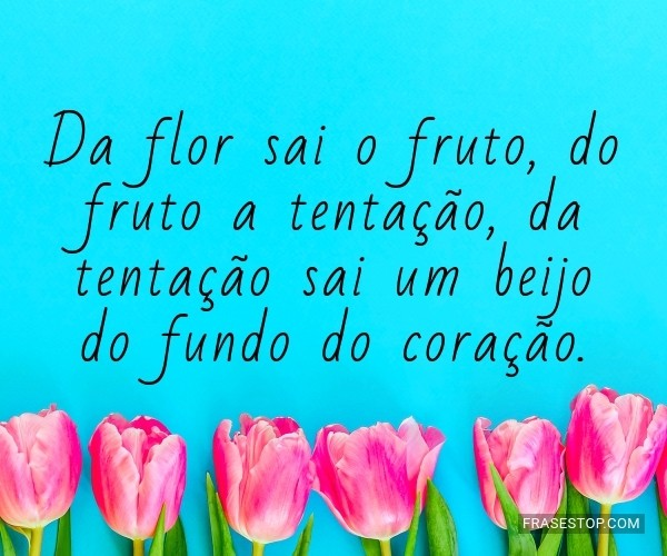 Da flor sai o fruto, do...