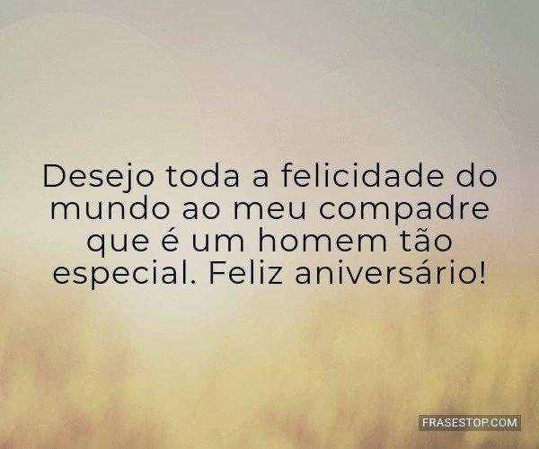 Desejo toda a felicidade...
