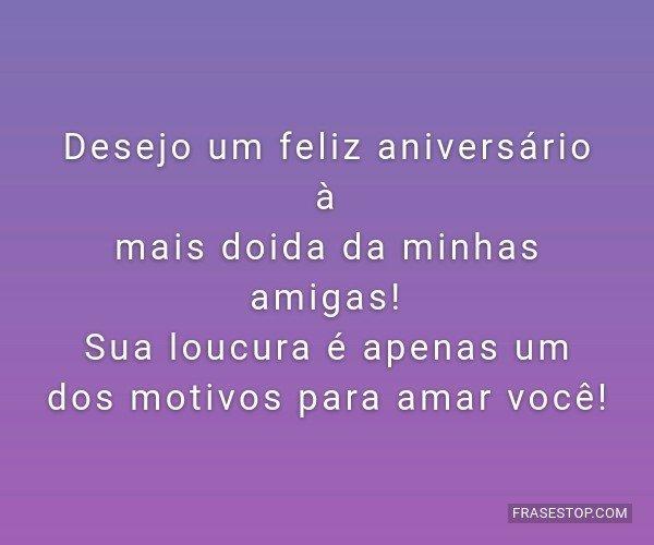 Desejo um feliz...