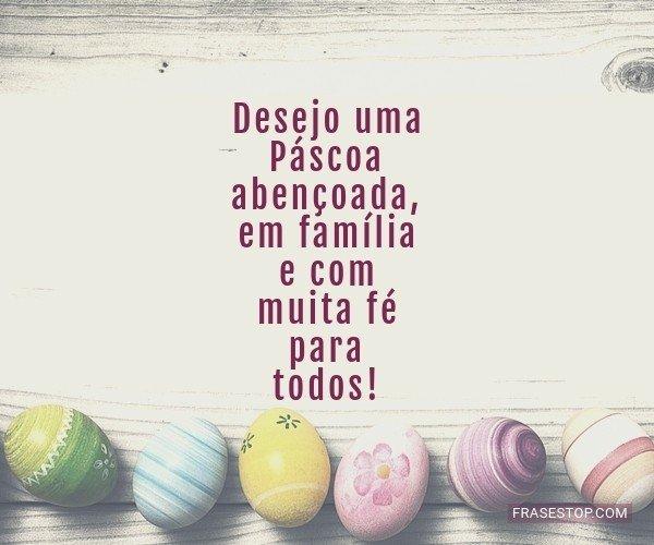 Desejo uma Páscoa...