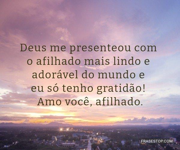 Deus me presenteou com o...