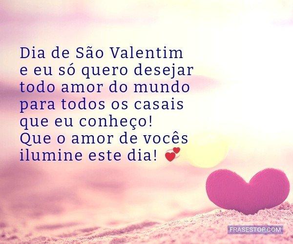 Dia de São Valentim e eu...