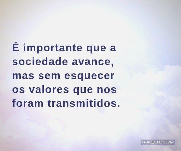 É importante que a...
