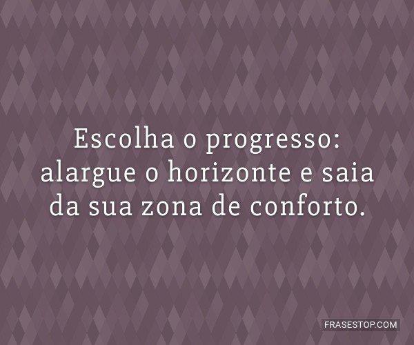 Escolha o progresso:...