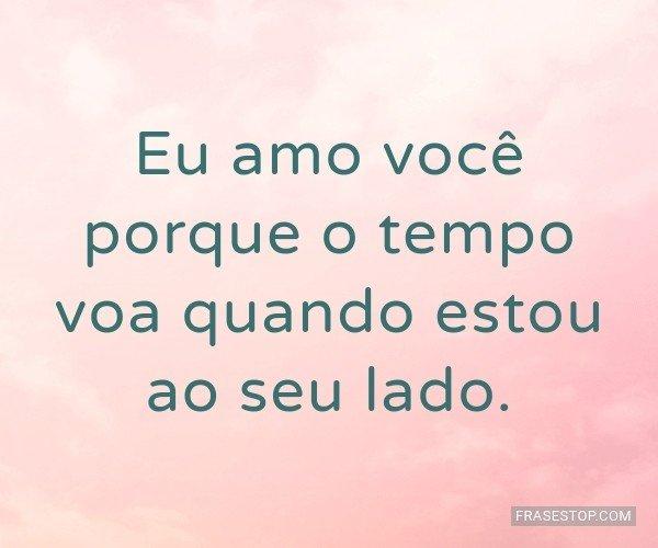 Eu amo você porque o...