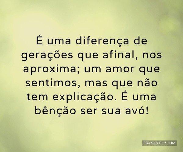 É uma diferença de...