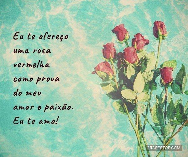 Eu te ofereço uma rosa...