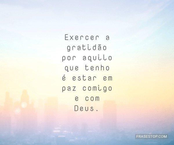 Exercer a gratidão por...