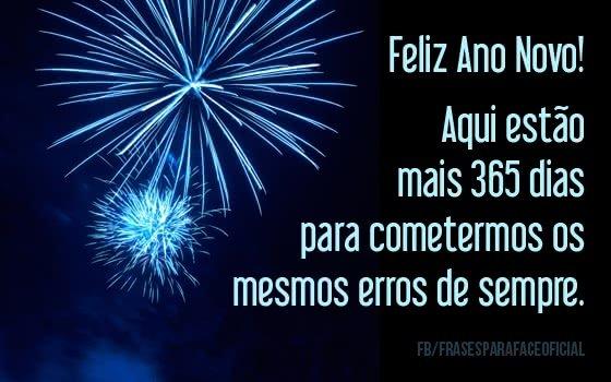 Feliz Ano Novo! Aqui...