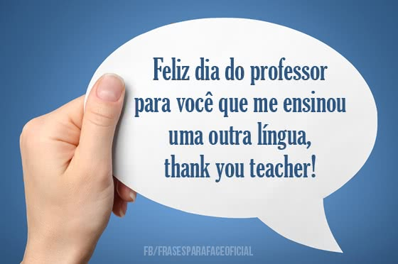Feliz dia do professor...
