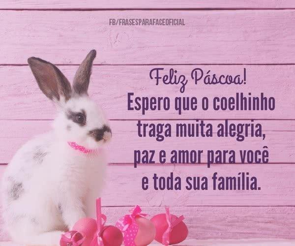 Feliz Páscoa! Espero que...