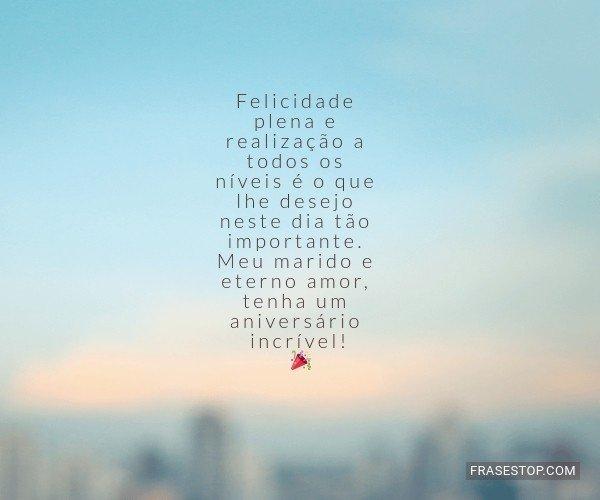 Felicidade plena e...