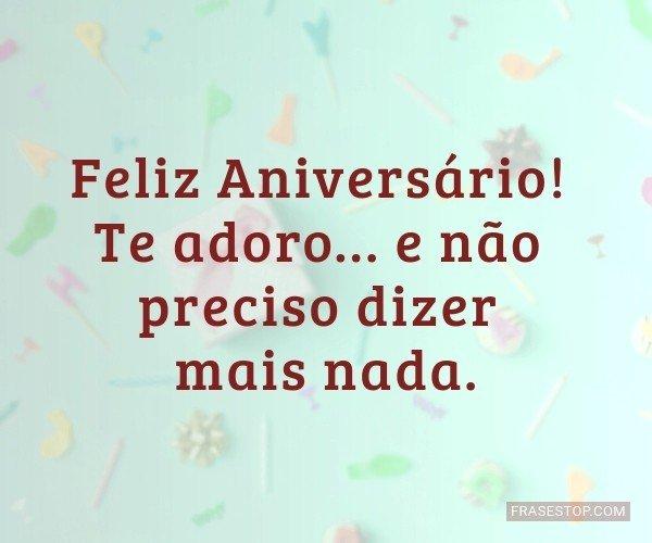 Feliz Aniversário! Te...