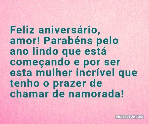 Feliz aniversário, amor!...