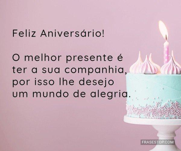 Feliz Aniversário! O...