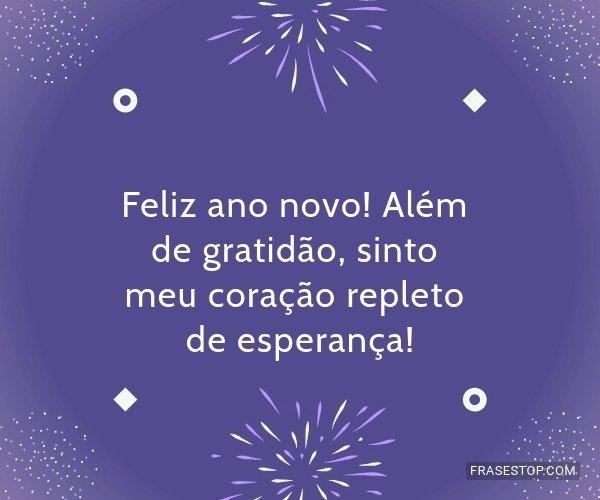 Feliz ano novo! Além de...