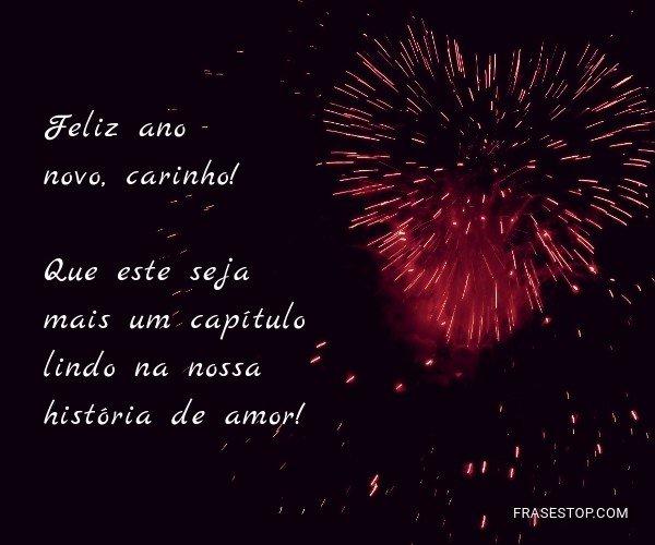 Feliz ano novo, carinho!...