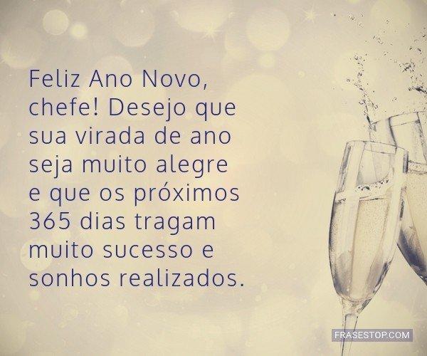 Feliz Ano Novo, chefe!...