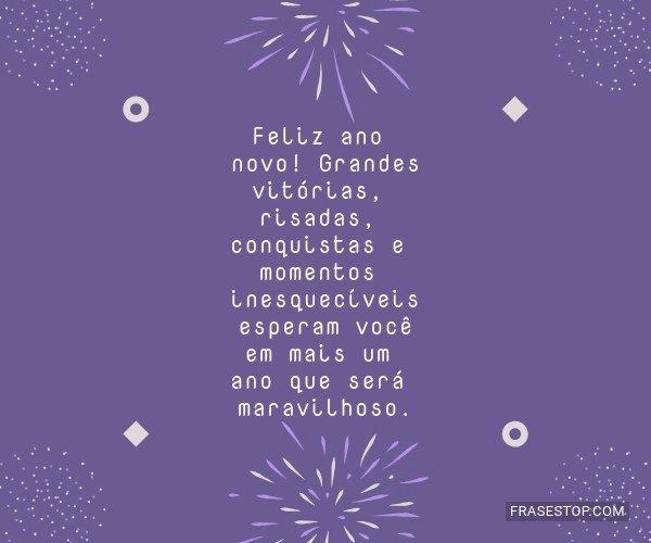 Feliz ano novo! Grandes...