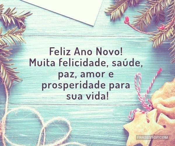 Feliz Ano Novo Muita Felicidade Saúde Paz