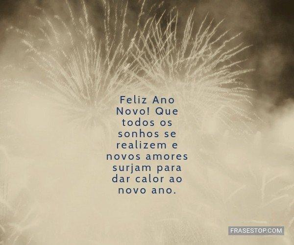Feliz Ano Novo! Que todos...