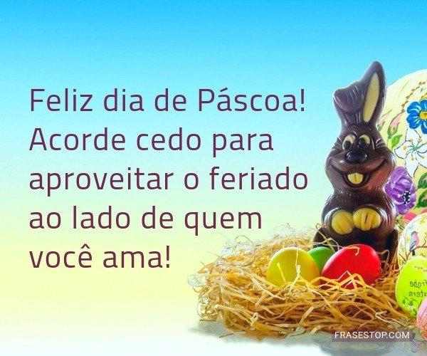 Feliz dia de Páscoa!...