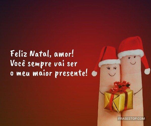 Feliz Natal, amor! Você...