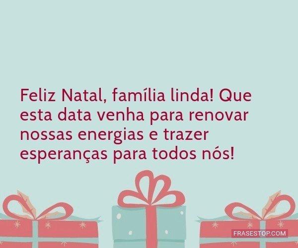 Feliz Natal, família...