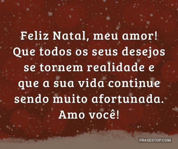Feliz Natal, meu amor!...