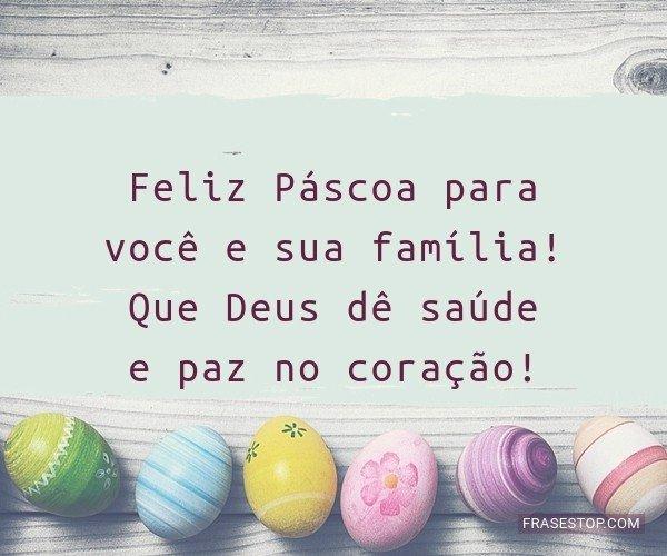 Feliz Páscoa para você...