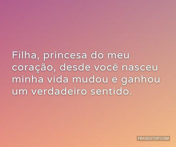 Filha, princesa do meu...