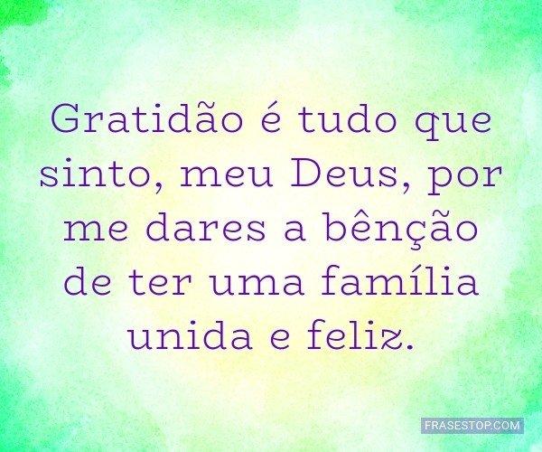Gratidão é tudo que...