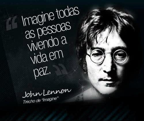 Imagine todas as pessoas...
