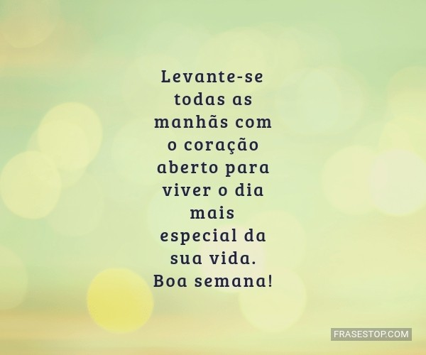 Levante-se todas as...