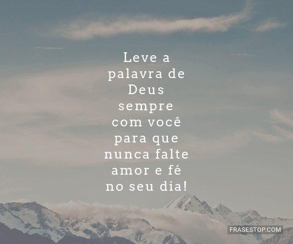 Leve a palavra de Deus...