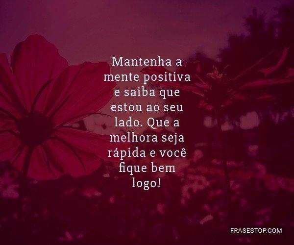 Mantenha a mente positiva...