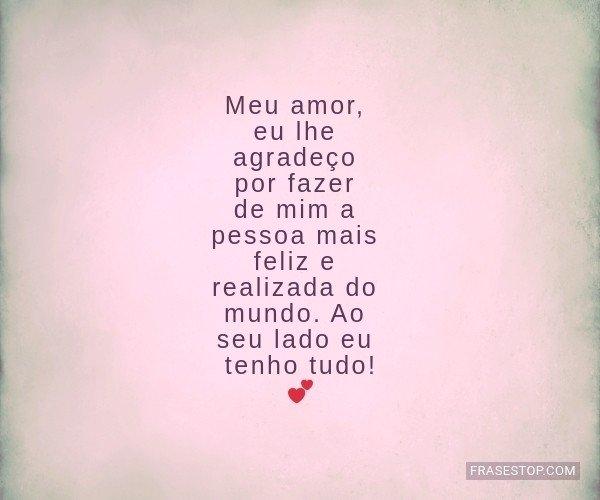 Meu amor, eu lhe...