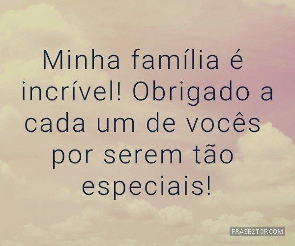 Minha família é...