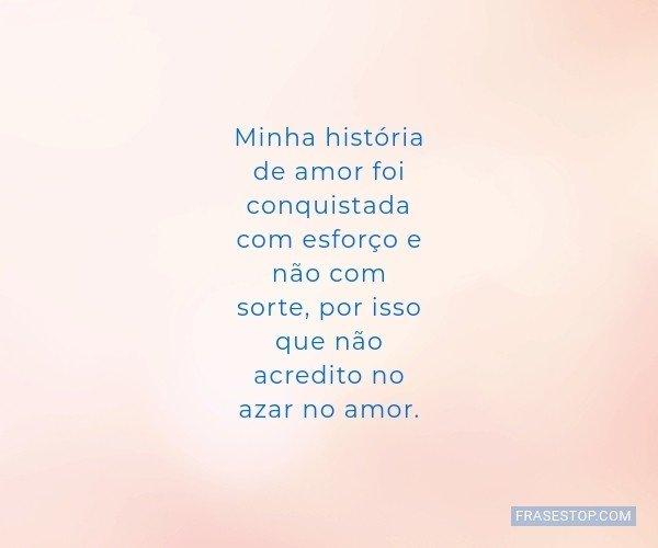 Minha história de amor...