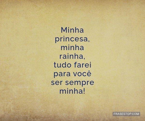 Minha princesa, minha...