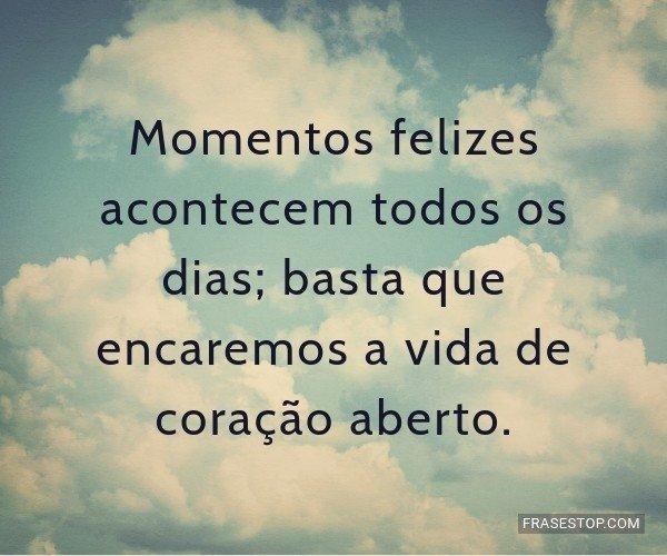Momentos felizes...