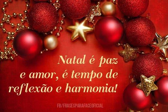 Natal é paz e amor, é...