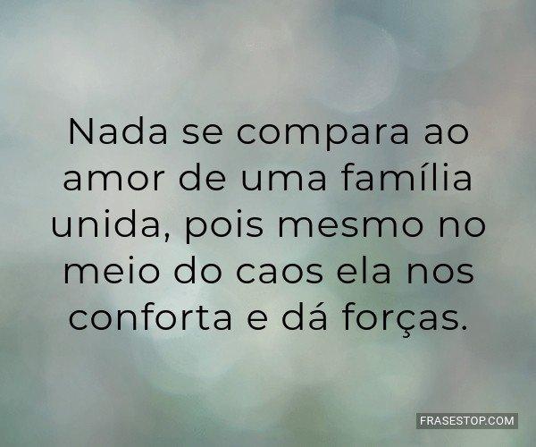 Nada se compara ao amor...