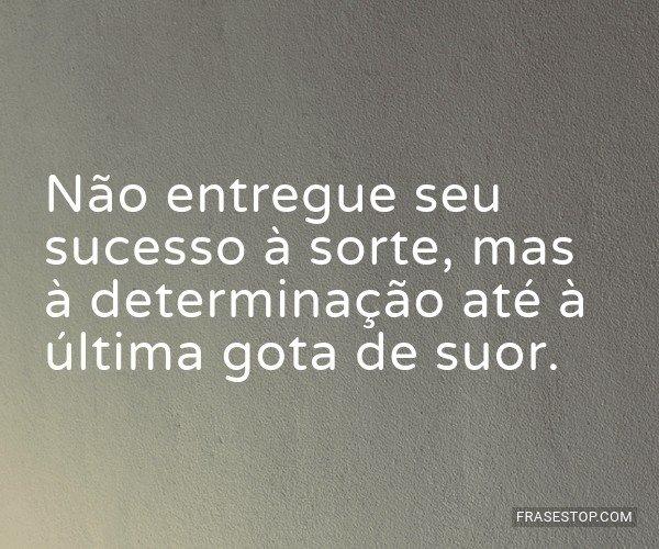 Não entregue seu sucesso...