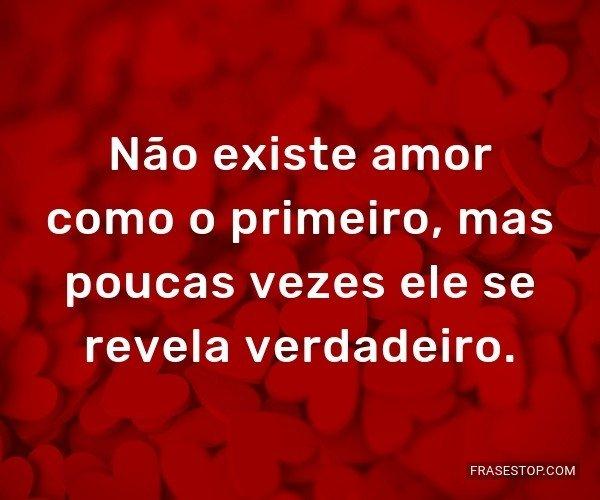 Não existe amor como o...