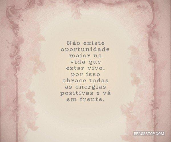 Não existe oportunidade...