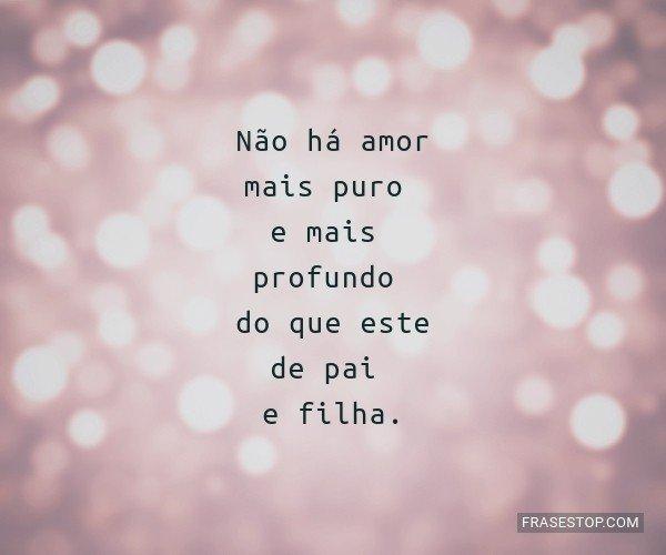 Não há amor mais puro e...